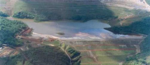 Imagem aérea da barragem da Vale em Barão de Cocais (Divulgação/Vale)