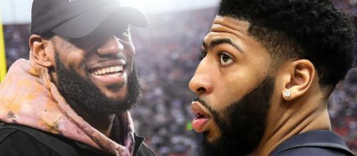 LeBron will team up with Anthony Davis but not as members of the Lakers this season. [Image via TheFumble/YouTube]