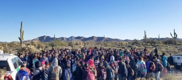 Central Americans enter illegally/Courtesy of CBP
