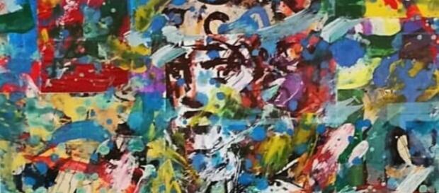 """Dettaglio di """"Agente provocatore"""", una delle opere in esposizione di Michelangelo d'Auria"""