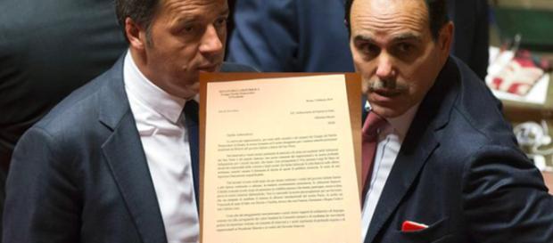 Matteo Renzi ed il senatore Marcucci