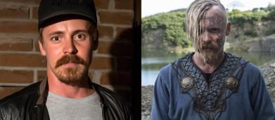 6 atores de Vikings sem a caracterização