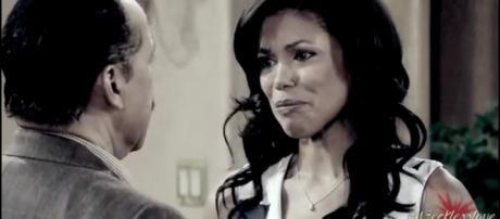 Julius and Maya are rarely seen on 'B&B.' - [Make it rain / YouTube screencap]