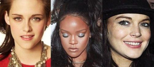 Kristen Stewart, Rihanna e Lindsay Lohan (Reprodução/Gente IG)