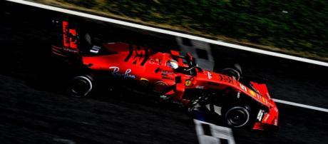 La Ferrari di Sebastian Vettel, miglior tempo nell'ultima giornata di test a Barcellona