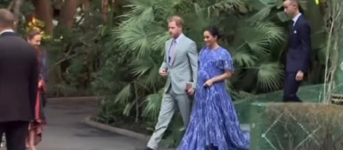 Prince Harry and Meghan Markle in Morocco. [Image source/ET Canada YouTube video]