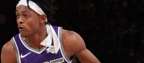De'Aaron Fox led the Kings to a victory on Saturday over the NY Knicks. [Image via NBA/YouTube screenshot]