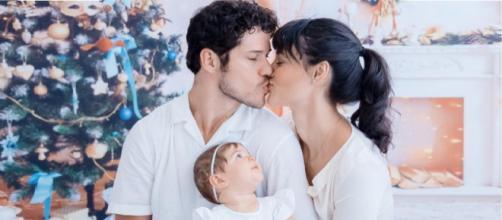 José Loreto, Débora Nascimento e Bella (Reprodução Instagram)