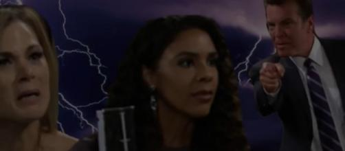 Kerry betrays Jack and Phyllis. (Image Source: Y&R Worldwide Voice of the fans-YouTube.)