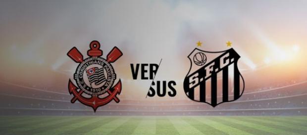 Corinthians x Santos ao vivo (Reprodução Arena Corinthians)