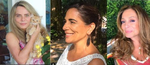 Bruna Lombardi, Glória Pires e Susana Vieira. (Reprodução /Instagram - Montagem/ Telma Myrbach)
