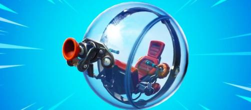 Fortnite is getting a new vehicle called The Baller. [image credits: in-game screenshot]