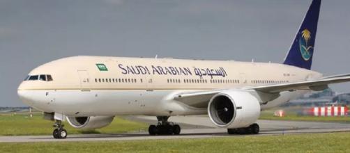 Avião da Saudi Arabian. (Foto: Divulgação/Saudi Arabian)