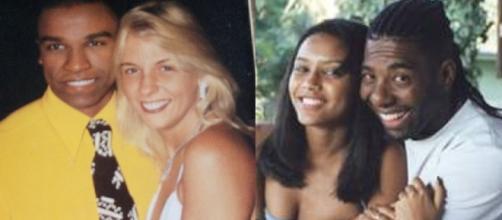 Casais de famosos dos anos 90. (Foto: Reprodução TV Manchete e RecordTV)
