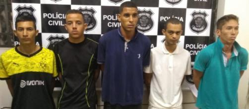 Cinco acusados foram presos após matarem suspeito. (Divulgação/Polícia Civil)