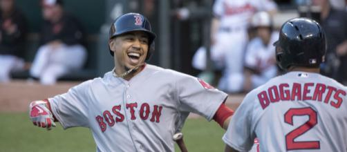 Fresh off winning American League MVP, Mookie Betts is on track for a Hall of Fame career. [Image Source: Flickr | Keith Allison]