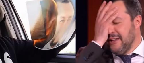 Giovane brucia la foto di Salvini in auto, il ministro gli risponde sui social: 'Non perdo il sorriso'
