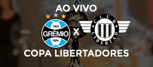 Grêmio x Libertad ao vivo (Montagem: Diogo Marcondes)
