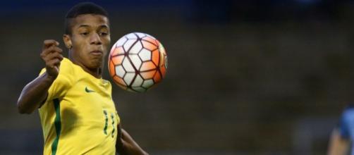 Jogador David Neres está convocado para Seleção Brasileira (Imagem: Reprodução/Twitter - CBF Futebol/Lucas Figueiredo/CBF)