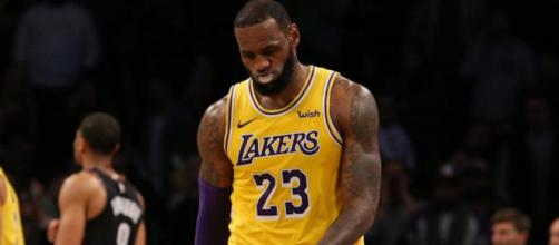 LeBron James' Lakers have a less than one percent chance to get into the 2019 NBA Playoffs. [Image via NBA/YouTube]
