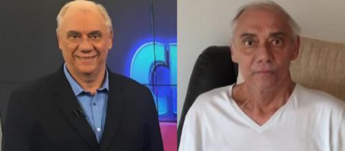 Marcelo Rezende antes e depois da doença (Reprodução Instagram)