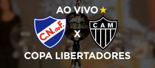 Nacional-URU x Atlético-MG ao vivo (montagem: Diogo Marcondes)