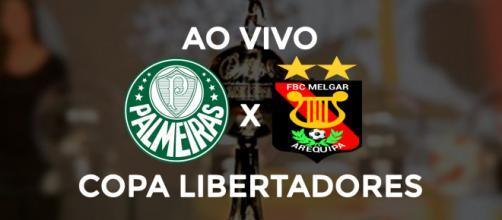Palmeiras x Melgar ao vivo. (Foto: Arte/Diogo Marcondes)