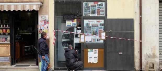 Il negozio di Palermo teatro della rapina