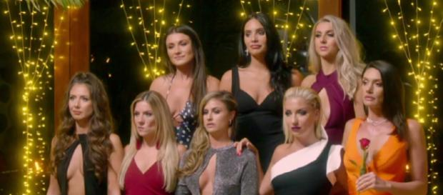 The Rose Ceremony gets intense as Alex stuggles to send girls home (Image credit: The Bachelor UK/ Channel 5)