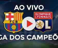 Barcelona x Lyon ao vivo (montagem Diogo Marcondes)