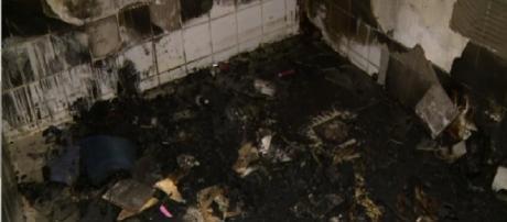Suspeito de atear fogo na companheira foi detido por policiais militares de Campinas (SP) (Foto: Reprodução EPTV)