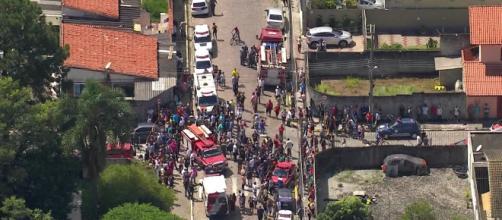 Ataque em Suzano deixa 10 mortos (Reprodução/Rede Globo)