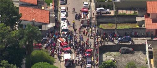 Ataque ocorreu por volta das 9h30 (Reprodução/Rede Globo).