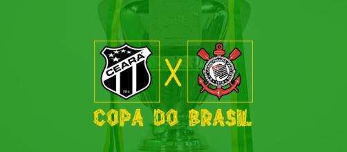 Ceará x Corinthians ao vivo (Montagem: Diogo Marcondes)
