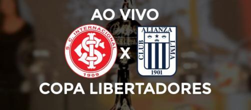Inter x Alianza Lima ao vivo (Montagem Diogo Marcondes)