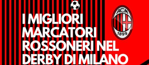 La classifica dei marcatori del Milan nel derby di Milano