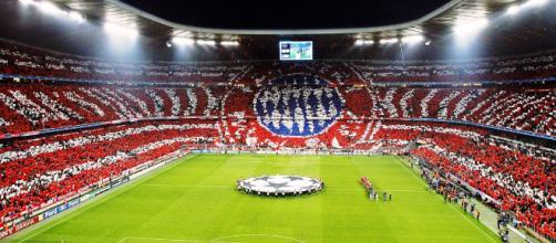 L'Allianz Arena di Monaco, teatro della sfida di questa sera tra Bayern e Liverpool