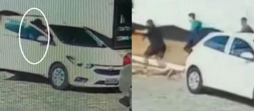 Massacre Suzano, vídeos mostram alunos fugindo da escola (Reprodução RecordTV)