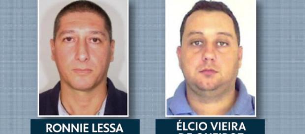 Élcio Queiroz e Lessa foram detidos por suspeita de assassinato. (Foto: Reprodução/TV Globo)