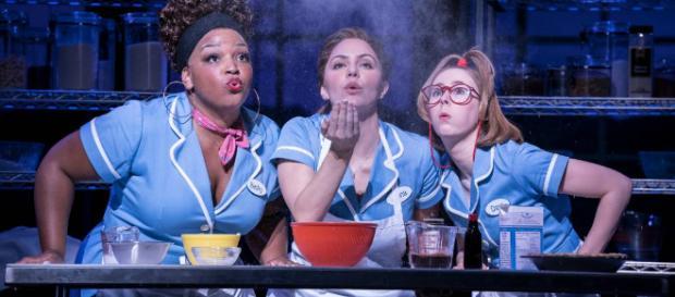 The Waitress follows the life of pie baking extraordinaire Jenna Hunterson, played by Katharine Mcphee. image credit Johan Persson/Cornershop PR