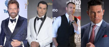 O tempo fez que com que vários atores chegassem ao posto de galãs. (Imagem: Televisa/Agência México)