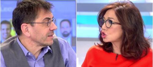 Juan Carlos Monedero y Ana Rosa Quintana