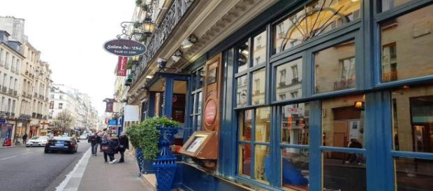 Café Le Procope, ingresso presso la Rue de l'Ancienne Commedie