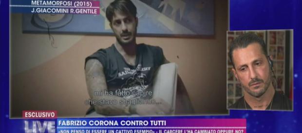 """La """"metamorfosi"""" di Fabrizio Corona - Live - Non è la d'Urso. Blasting news"""