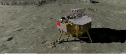 China lands a rover on the far side of the moon. [Image source/CBS News YouTube video]