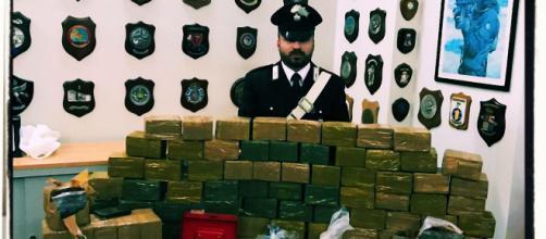 La droga sequestrata dai Carabinieri della stazione di San Bartolomeo.