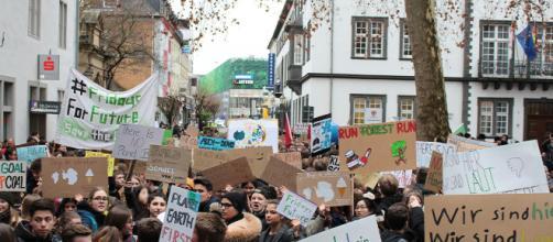Lo sciopero dei ragazzi contro il cambiamento climatico.