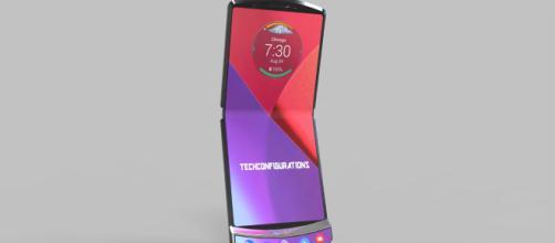 Protótipo do smartphone Razr V4. (Fonte: Acervo/ Blasting News)