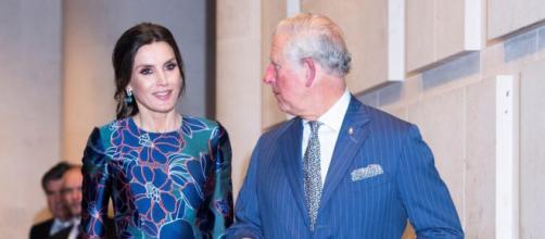 Reina Letizia y Carlos de Inglaterra