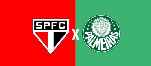 São Paulo x Palmeiras ao vivo (Montagem: Diogo Marcondes)